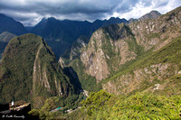 View of Aguas Calientes from Machu Picchu
