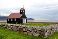 Church at Raudasandur (red sand beach)